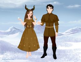 Young Maleficent and Stefan by M-Mannering