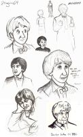 Troughton Style Sketches by dragon-64