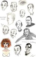 Face Doodles by tree27