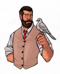 Just an old, bearded man with his beloved dove by Nara-chann