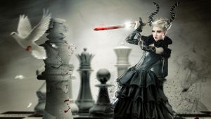 Checkmate Wallpaper by shiny-shadows-Art
