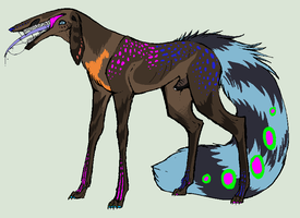 Tootsies Feral Form by ICreateWolf13