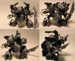 Zoids Bionicle Kitbash Rhino by whodagoose