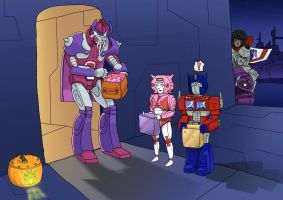 Transformers Happy Halloween 2012 by OmegaSupreme
