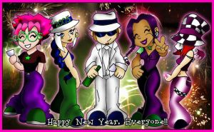 Happy New Year To All by Myrcury-Art