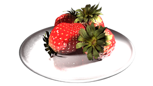 3D Strawberries by revois