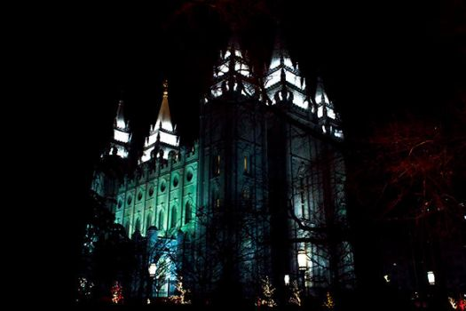 Salt Lake Temple in December by artisticimposter