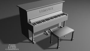 PIANO BY VRAY by Samer2010