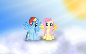 Rainbow Dash and Fluttershy by Kima93