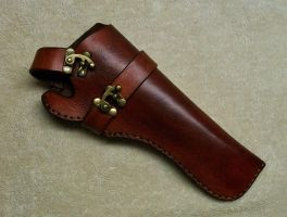 Steampunk Leather Holster by LAFuellingFacades
