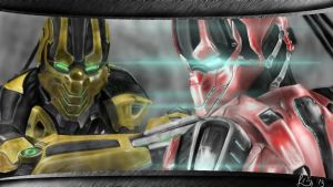 Cyrax and Sektor by LetticiaMaer