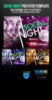 Social Night Party  Flyer Templates by ImperialFlyers