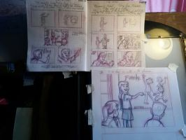 Storyboard and Layouts for a project by PierreDeCelles