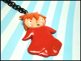 Ponyo Necklace by GrandmaThunderpants