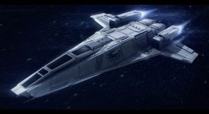 Hedgehog-class interstellar tactical gunship by Shoguneagle