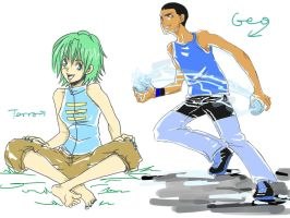 Terra and Geo for GeoSoulReaper by LAELAH