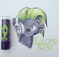 Electro headshot badge by OverTheRhine90