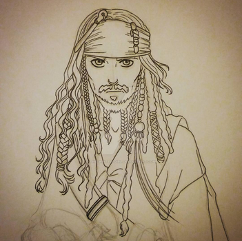 Jack Sparrow sketch by the-winter-girl