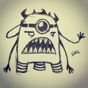 Doodle Monster by tHj1996