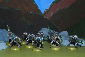 Necrons Warriors Green by 12jack12