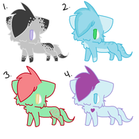Winter Themed Adopts by BlossomTehKat