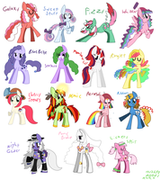 My Little Pony - G1 into G4 by GlitterClamOpera