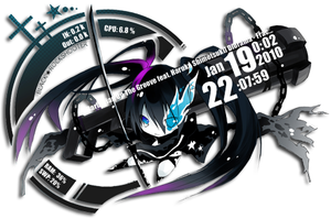 Black Rock Shooter Rainmeter by Kaza-SOU