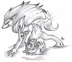 Pokemon B-W: Mother And Son by ARVEN92