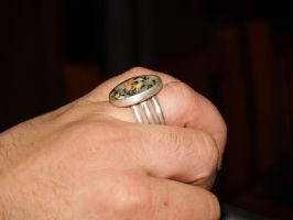 My First Cobochon Bezel Ring by moonknight420