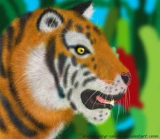 Test: Tiger Head... by tiny-alien