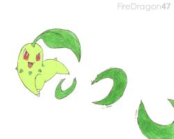 Chikorita Attack by firedragon47