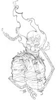 ghostrider pencils by Alex0wens