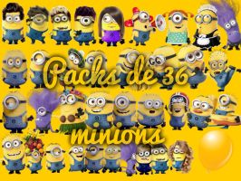 Pack de 36 Minions Mi villano favorito by Camy2030