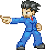 Phoenix Wright 8-bit by Gynos