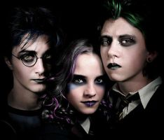 Emo-Goth Harry Potter by wu-n-gobby