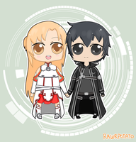 Sword Art Online: Kirito x Asuna by RawrPotato