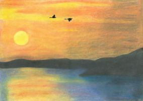 Swans flying south by nectar666