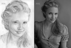 Dianna, 3 years apart by GenevieveViel