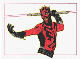 DARTH MAUL by ironhed577