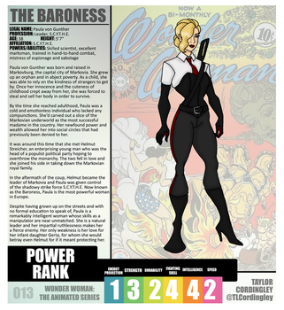 Wonder Woman TAS - The Baroness Redesign Profile by Femmes-Fatales