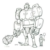 Boy and Bot by staino