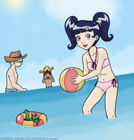 At the Beach - take two by mellie-chan