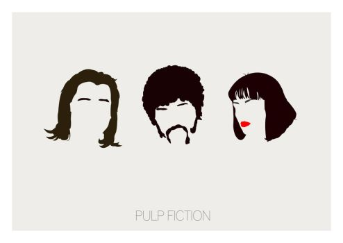 Pulp Fiction Minimal Poster Art by Posteritty by Posteritty