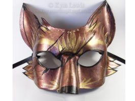 Studded Copper Fox Mask by LucyLovesLeather