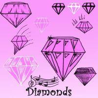 Diamond Brushes by Red--Roses