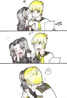 Vocaloid comic Strip page 1 by SwimFree