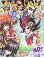 Decade of Dueling IN CRAYON by ManaDarkMagicianGirl