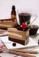 Tiramisu Cake with Kahlua coffee liqueur drink by theresahelmer