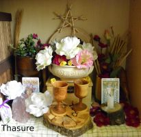 Home altar (late spring) 3. by LoveLiveLilith