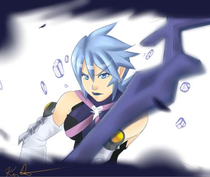 Kingdom Hearts: Birth By Sleep: Aqua by Kenny-Artist